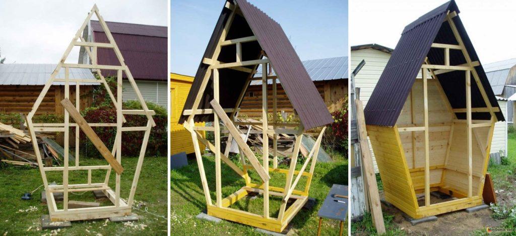 строительство домика для туалета