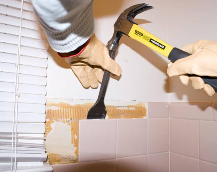 Как подготовить стену под плитку в ванной после старой плитки