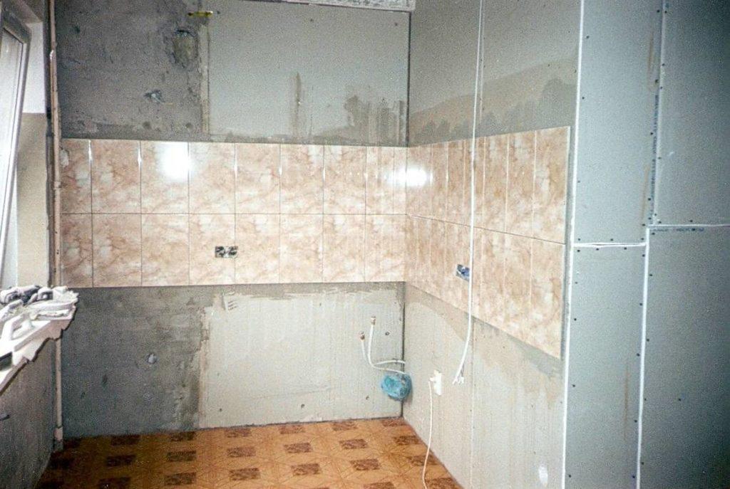 подготовка стены из гипсокартона под плитку