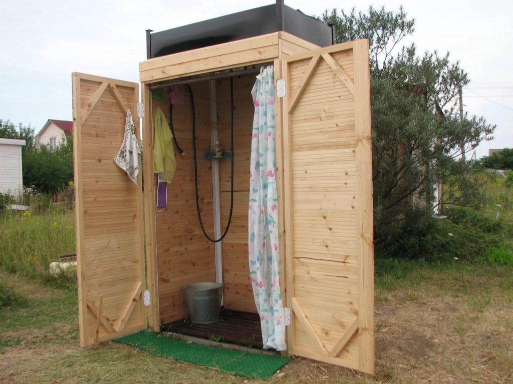 как сделать летний душ на даче своими руками из подручных материалов..