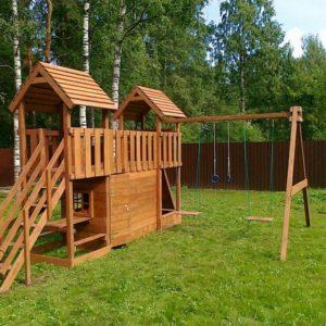 Детская площадка из дерева для дачи своими руками